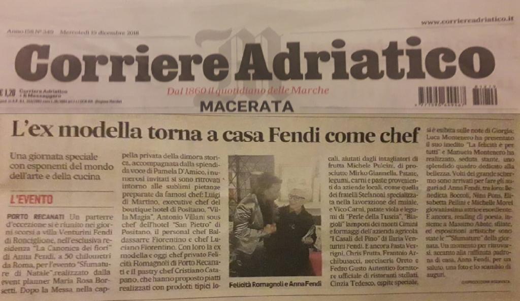 articolo CorriereAdriaticoAnnaFendi